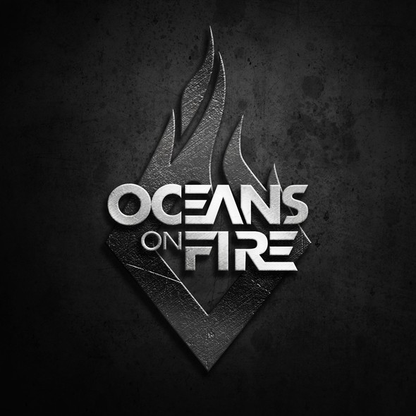 EDM logo with the title 'OCEANS ON FIRE LOGO DESIGN'