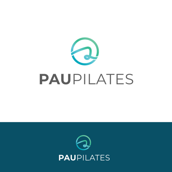 Pilates design with the title 'Simple logo design'