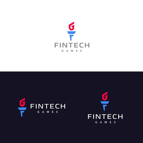 Torch design with the title 'FINTECH'