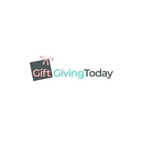 Present design with the title 'Gift Giving Today Logo'