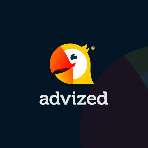 Platform design with the title 'advized'