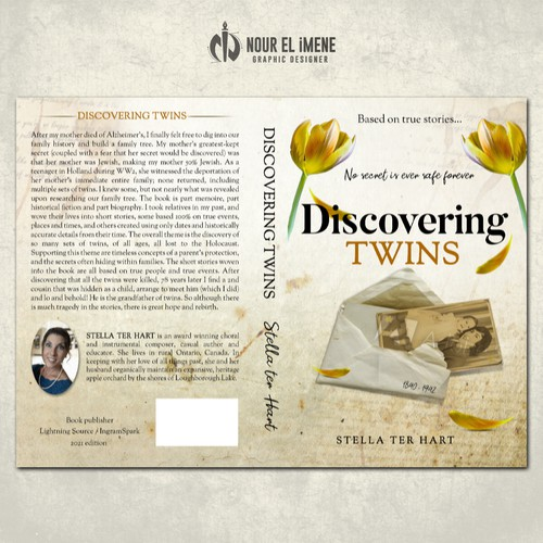 Sad design with the title 'Discovering twins'