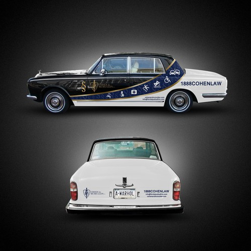 Wrap design with the title 'Rolls Royce Wrap Law firm'
