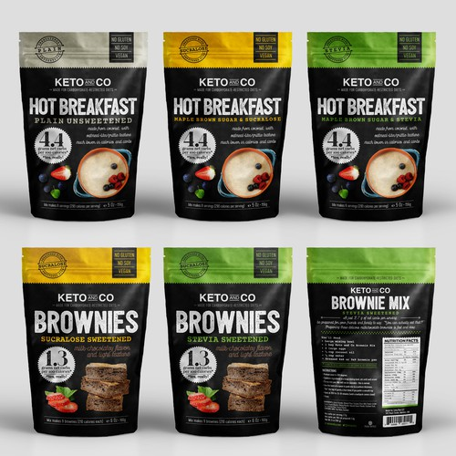 Breakfast food packaging with the title 'Packaging & Label'