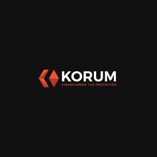 Winner logo with the title 'Bold logo concept for Korum'