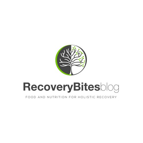 Holistic logo with the title 'Logo for a Nutrition Recovery blog '