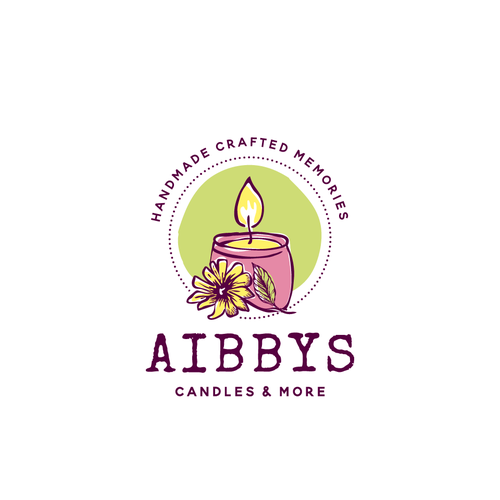 Candle logo with the title 'Aibbys candles logo'