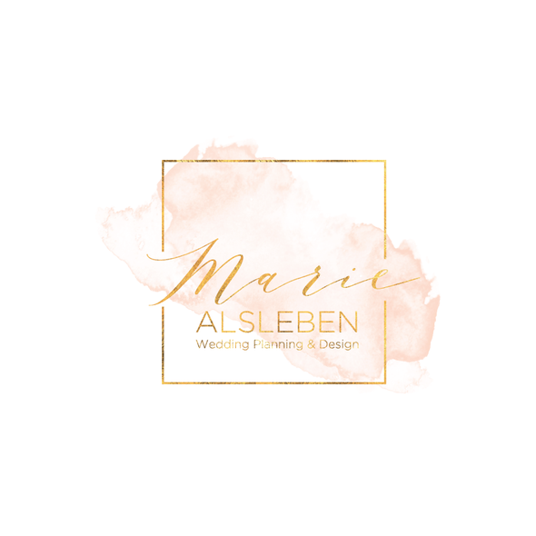 Wedding planning design with the title 'Logo & Website for a Wedding Planner'