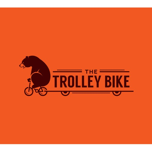 Cool design with the title 'Awesome Logo For The Trolley Bike That Kicks Ass'