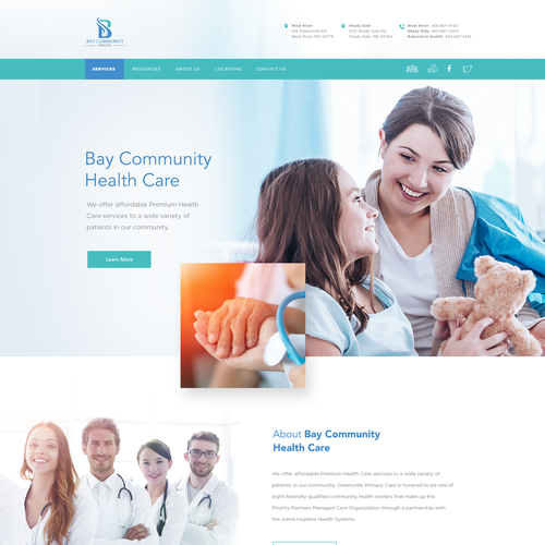 Doctor website with the title 'Revamped Website For A Doctors Office'