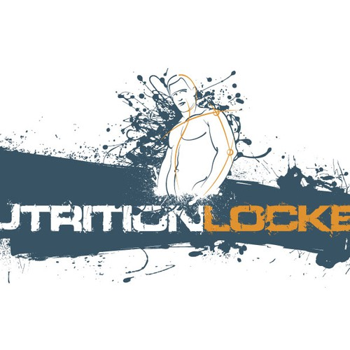 Human figure design with the title 'Nutrition Locker Logo Design proposal'