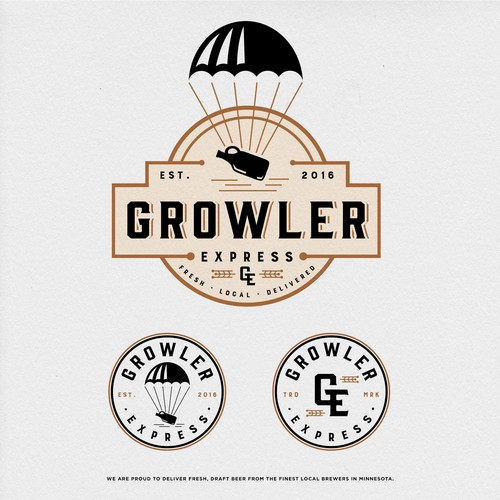 Local design with the title 'Growler Express'