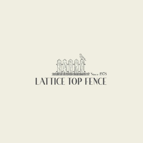 Fence logo with the title 'Lattice Top Fence'