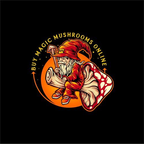 Shaman design with the title 'Shaman Magic mushrooms'