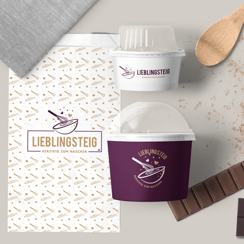 Love brand with the title 'Lieblingsteig - raw cookie dough'