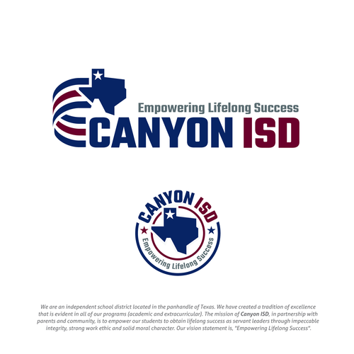 Positive design with the title 'Canyon ISD'