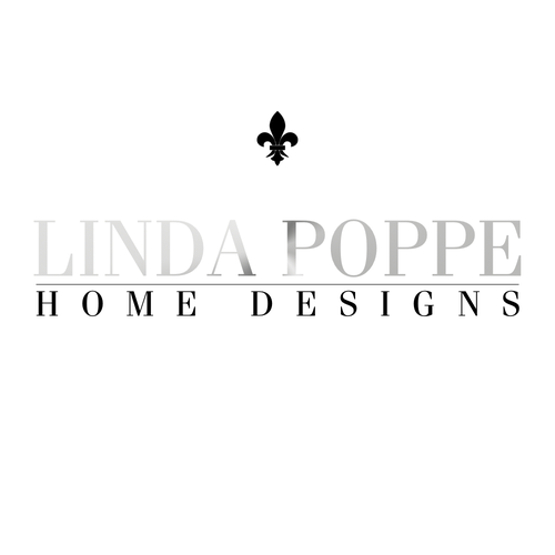 Fleur de lis logo with the title 'Logo concept for Interior Design firm.'