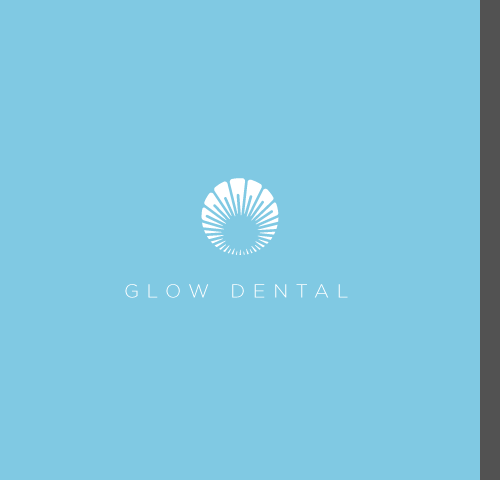 Glow design with the title 'unique logo for glow dental'