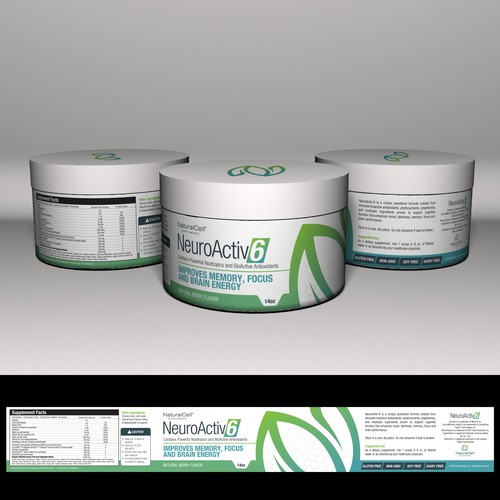 Supplement design with the title 'Supplement bottle'