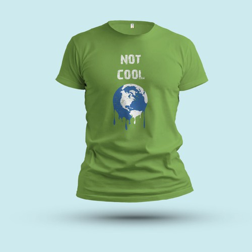 Climate design with the title 'Climate Change Message T-shirt Design'