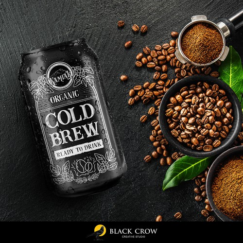 Cold brew label with the title 'Cold Brew Coffee'