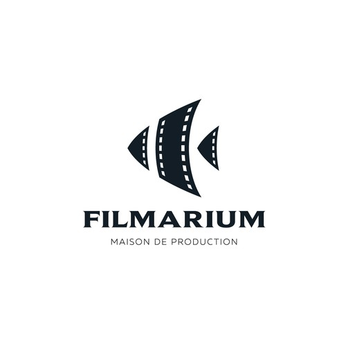 Fish design with the title 'Creative logo for Filmarium'