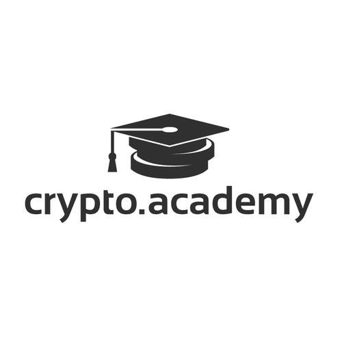 Academy design with the title 'Crypto Academy'