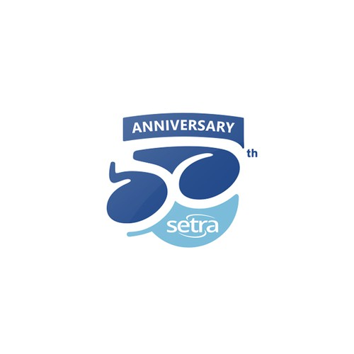Anniversary logo with the title '50th Anniversary logo for Setra™'