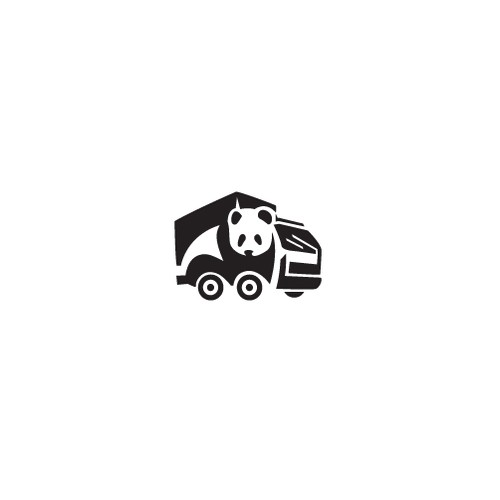 Truck logo with the title 'Panda Man and Truck'