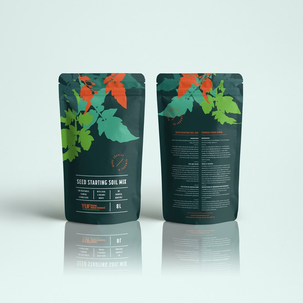 Plant packaging with the title 'Premium packaging design'