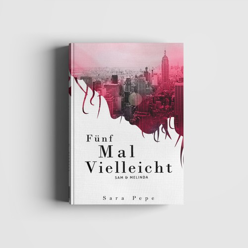 Poetry design with the title 'Funf Mal Vielleincht'