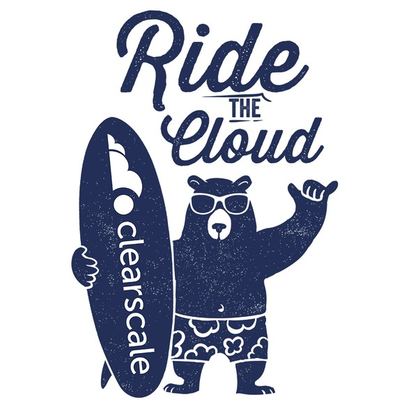Ride design with the title 'Bear Surfer T-shirt v2'
