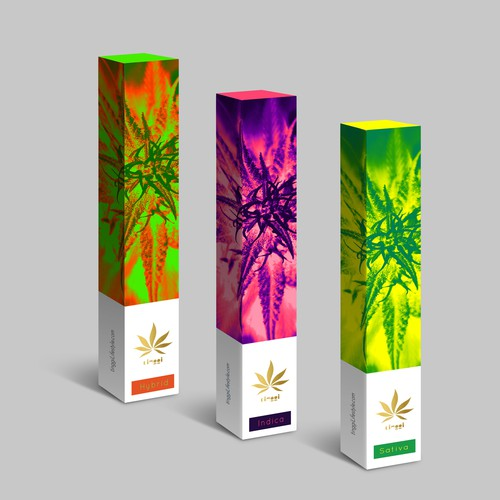 Abstract packaging with the title 'Cannabis Packaging'