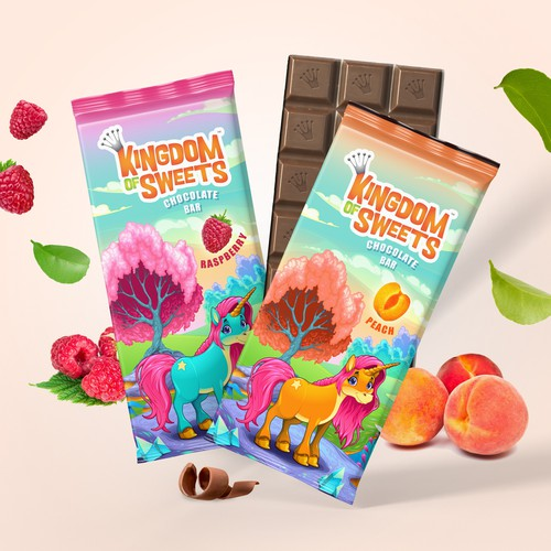 Colorful packaging with the title 'Milk Chocolate for Children'