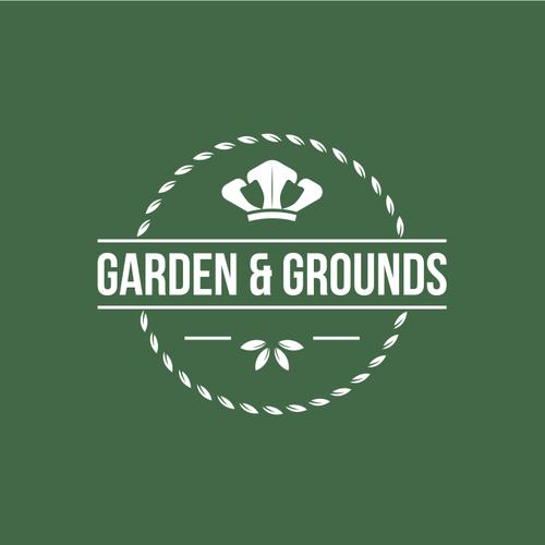 Spade logo with the title 'Logo design for garden & grounds.'