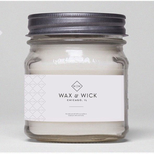 Modern vintage logo with the title 'Logo For Wax & Wick ( mens candle)'