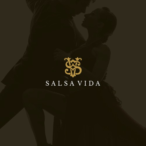 3D logo with the title 'A luxurious logo for Salsa Dancing Lifestyle Brand'