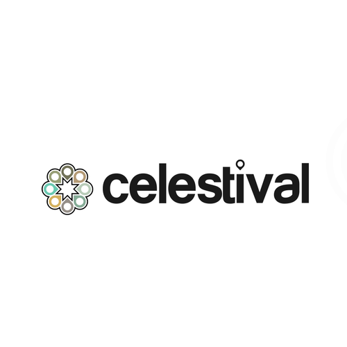Concert design with the title 'celestival'