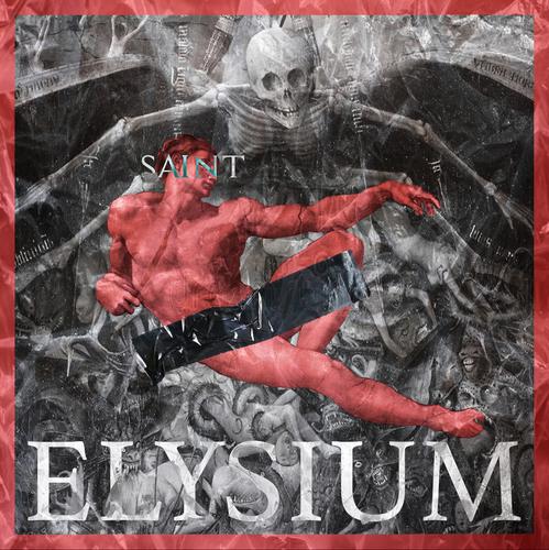 Saint design with the title 'Saint Music Elysium Album Cover'