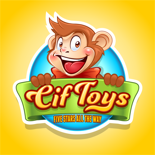 Monkey design with the title 'Cif Toys'