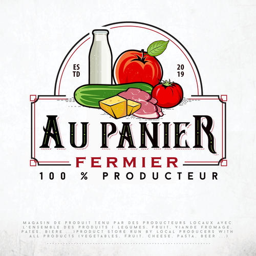Illustrative design with the title 'Logo For Various Food Products'