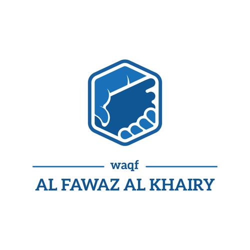 Helping logo with the title 'WAQF AL FAWAZ AL KHAIRY. '