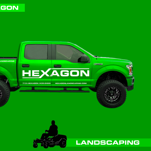 Wrapping design with the title 'Hexagon Truck illustration. Car Design. Truck Design. Car Wrap'