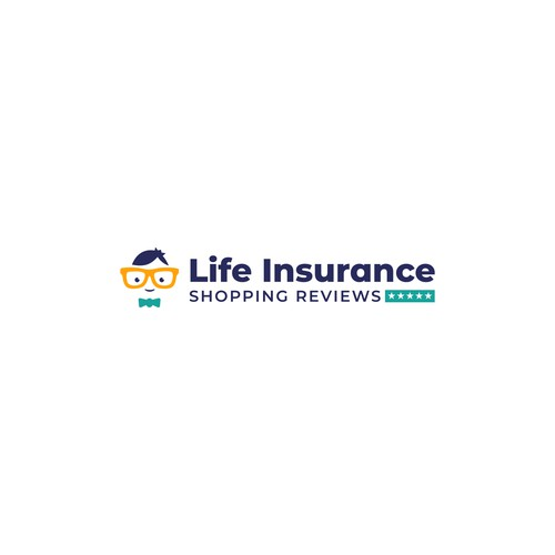 Nerd design with the title 'Bold logo for Life Insurance review company.'