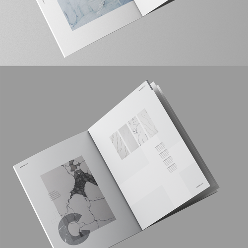 Whitespace design with the title 'Clean Minimal brochure'