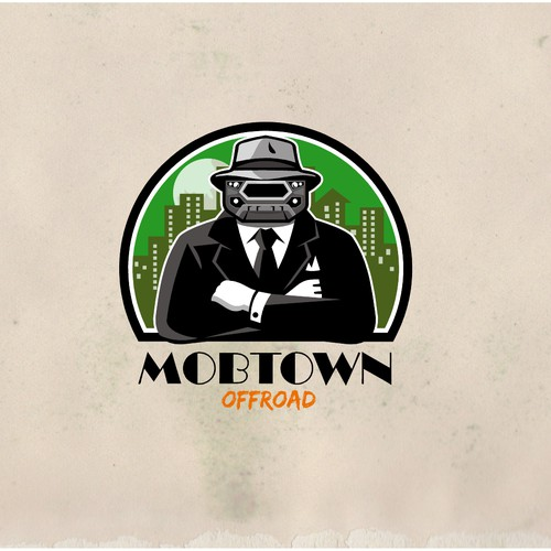 Gangster design with the title 'Mobtown Offroad'