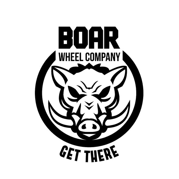 Wild boar logo with the title 'Boar Wheel Company'