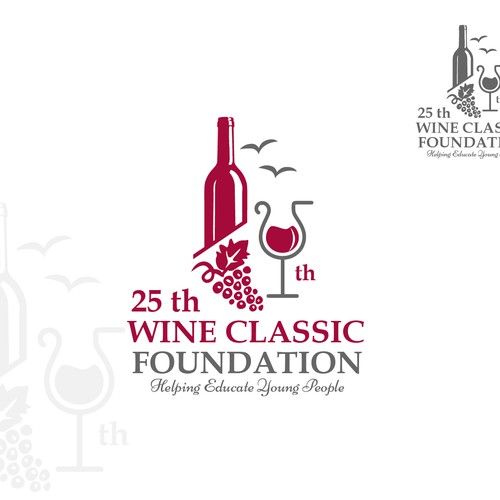 Grape logo with the title '25th Wine Classic Doundation'