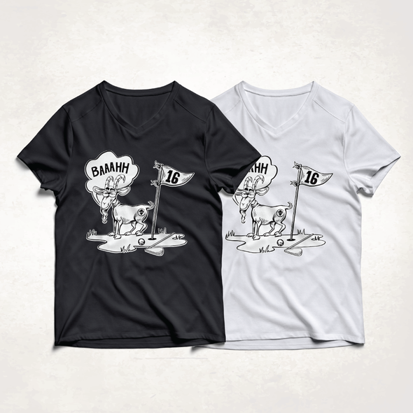 Golf t-shirt with the title 'T shirt illustration'