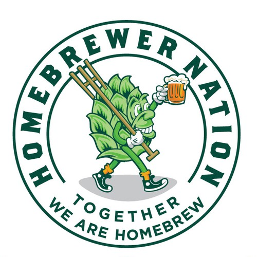 Mascot logo with the title 'traveling homebrew'